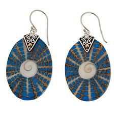 Bali Designs by Robert Manse Shell and Resin Drop Earrings