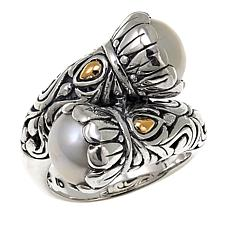 Bali Designs Cultured Mabé Pearl Bypass Ring