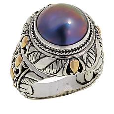 Bali Designs Cultured Mabé Pearl Cable Ring