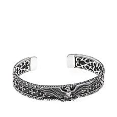 "Bali Designs Men's Carved Eagle Dog 7-1/4"" Cuff"
