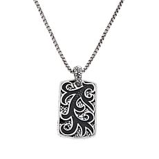 Bali Designs Men's Double Pebbled Pattern Pendant