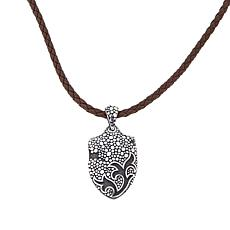 "Bali Designs Men's Shield Pendant with 22"" Cord"