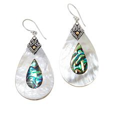 Bali Designs Mother-of-Pearl and Abalone Pear Pendant