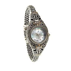Bali Designs Mother-of-Pearl Dial 2-Tone Bracelet Watch