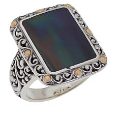 Bali Designs Mother-of-Pearl Scrollwork Ring