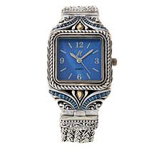Bali Designs Mother-of-Pearl Square Face Bracelet Watch