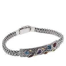 Bali Designs Multi-Gemstone Tulang Naga Bracelet