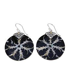 Bali Designs Multicolor Mother-of-Pearl Round Earrings