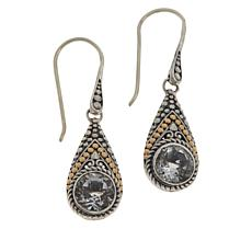 Bali Designs Sterling Silver and 18K Gem Popcorn Pattern Drop Earrings
