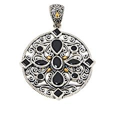 Bali Designs Sterling Silver and 18K Gemstone Medallion Pendant
