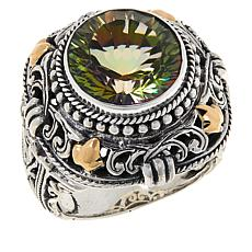 Bali Designs Sterling Silver and 18K Gold Exotic Color Quartz Ring