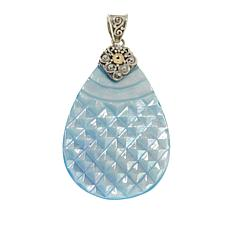 Bali Designs Sterling Silver and 18K Gold Mother-of-Pearl Pear Pendant