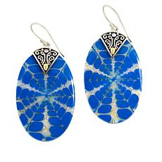 Bali Designs Sterling Silver & 18K Oval Shell and Resin Drop Earrings