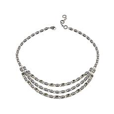 Bali RoManse 1.8ctw Chrome Diopside Layered Necklace