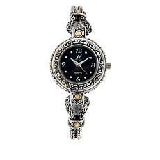Bali RoManse 18K Gold Accent Mother-of-Pearl Scrollwork Bracelet Watch