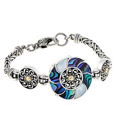 Bali RoManse Mother-of-Pearl and Abalone Flower Bracelet