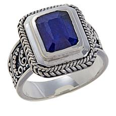 Bali RoManse Sterling Silver Colored Gemstone Filigree Ring