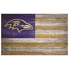 Baltimore Ravens Distressed Flag 11x19