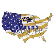 Baltimore Ravens USA Shape Flag Cutout
