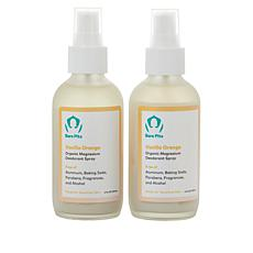 Bare Pits 2-pack Orange Vanilla Aluminum-Free Deodorant Spray