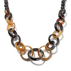 "Bé Links and Beads Natural Horn 45"" Necklace"
