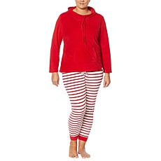 BEARPAW® 2-piece Cowl-Neck Pullover with Printed Jogger