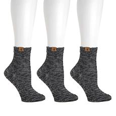BEARPAW® 3-pair Ankle Socks