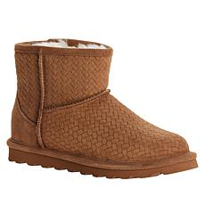 BEARPAW® Aleesa Suede Sheepskin Short Boot with NeverWet™