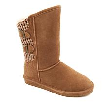 BEARPAW® Boshie Suede and Knit Buckled Boot