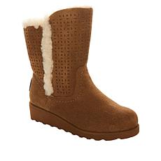 BEARPAW® Lillian Suede Wedge Boot with NeverWet™