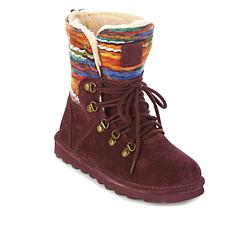 BEARPAW® Maria Suede Lace-Up Boot with NeverWet®