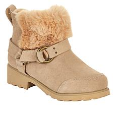 BEARPAW® Roxy Suede Moto Boot with NeverWet™