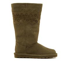 BEARPAW® Shana Suede Perforated Boot with NeverWet™