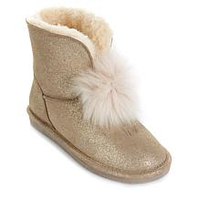 7c6328af0e8 BEARPAW® Suede Sheepskin Pom Pom Boot with NeverWet™ ...