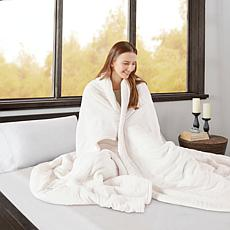 Beautyrest Heated Microlight to Berber Knitted Blanket - Queen