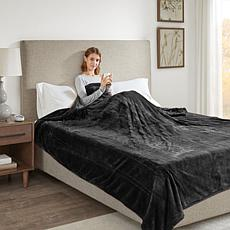 Beautyrest Heated Plush Blanket - Black Queen
