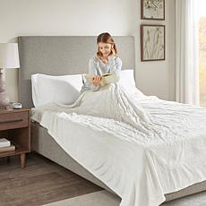 Beautyrest Heated Plush Knitted Microlight Blanket-Full