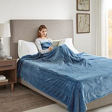 Beautyrest Heated Plush Knitted Microlight Blanket-King