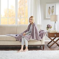 Beautyrest Heated Plush Knitted Microlight Oversized Throw - Lavender