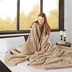 Beautyrest Microlight/Berber Heat Blanket - King/Tan
