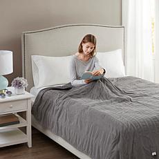 Beautyrest Washable Micro Fleece Electric Blanket - Queen/Gray