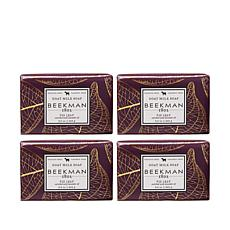 Beekman 1802 Fig Leaf Goat Milk Bar Soap 4-piece Set