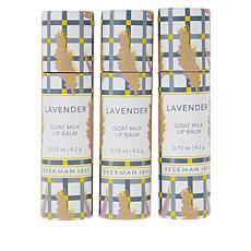 Beekman 1802 Goat Milk Lip Balm Trio - Lavender