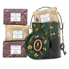 Beekman 1802 Vanilla Absolute and Honey & Oat Soap Set with Tin Pail