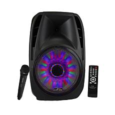 "beFree Sound 15"" Tailgate Speaker w/Reactive Lights"