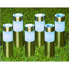 Bell & Howell 6-pack Stainless Steel Solar Stake Lights