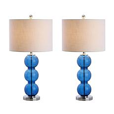 """Bella 27"""" Glass Triple-Sphere LED Table Lamp Set of 2 by JONATHAN Y"""