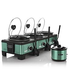Bella Set of 3 Linkable 2.5-Quart Slow Cookers