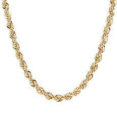 "Bellezza 20"" Bronze Diamond-Cut Rope Necklace"