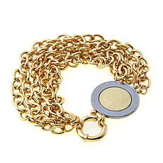 Bellezza 500 Lira Coin Bronze Multi-Row Rolo Bracelet